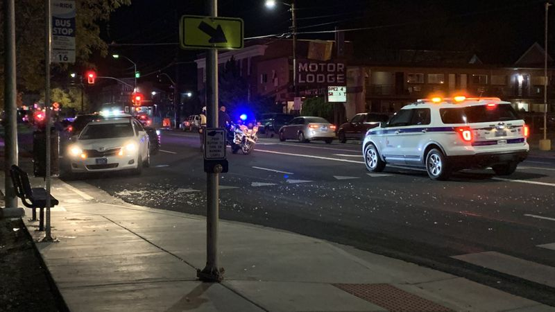 Reno Police investigate a crash on 2nd Street between Ralston and Stevenson.