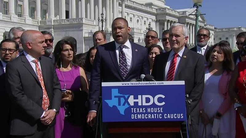 A group of Texas Democratic lawmakers left Texas for Washington, D.C., on Monday rather than...