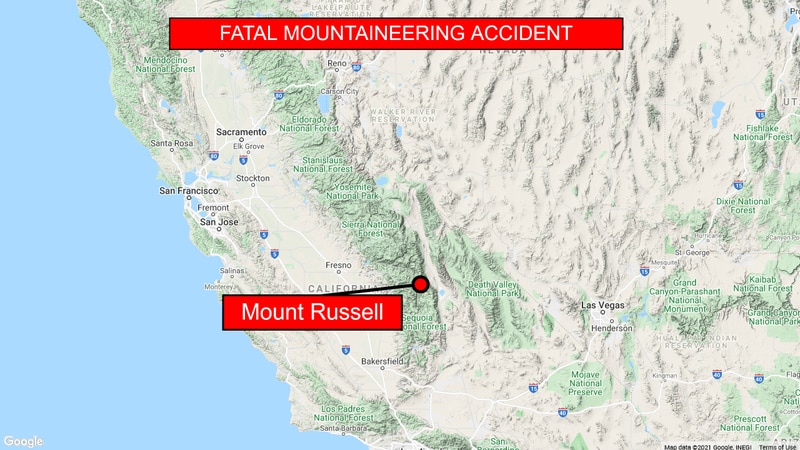 One person died in a hiking accident on Mount Russell.