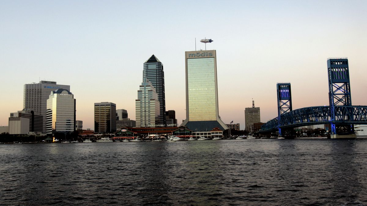 File photo of Jacksonville, Fla. skyline. (AP Photo/Robert E. Klein)