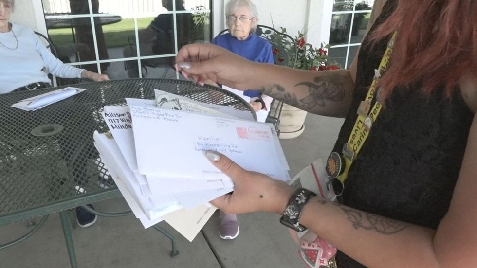 Employees at Carson Valley Senior Living started a pen pal program during the pandemic.