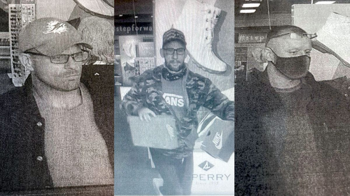 Suspects in thefts from Famous Footwear in Douglas County.