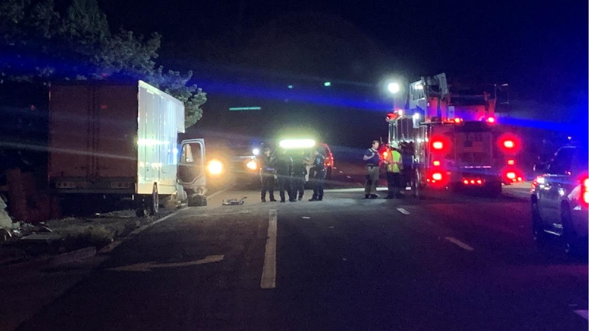 Sparks Police investigate a crash on Sparks Boulevard that left one person dead on September...