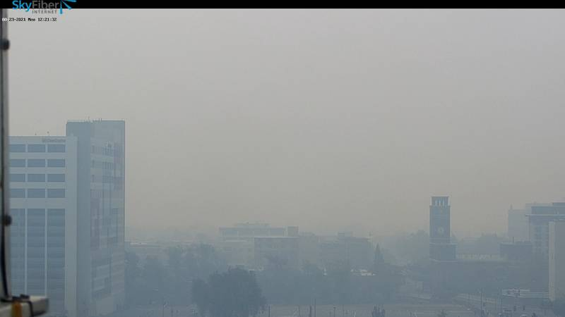 Smoke from nearby wildfires has caused poor air quality in Reno, Nev. (SkyFiber)