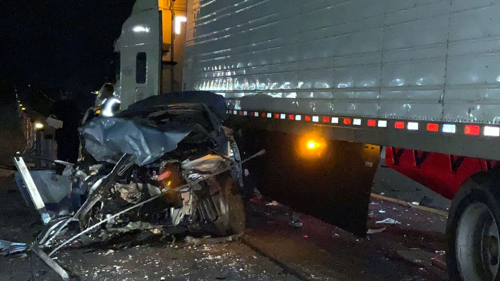 The Nevada Highway Patrol released this picture of a vehicle involved in a wrong-way crash on...