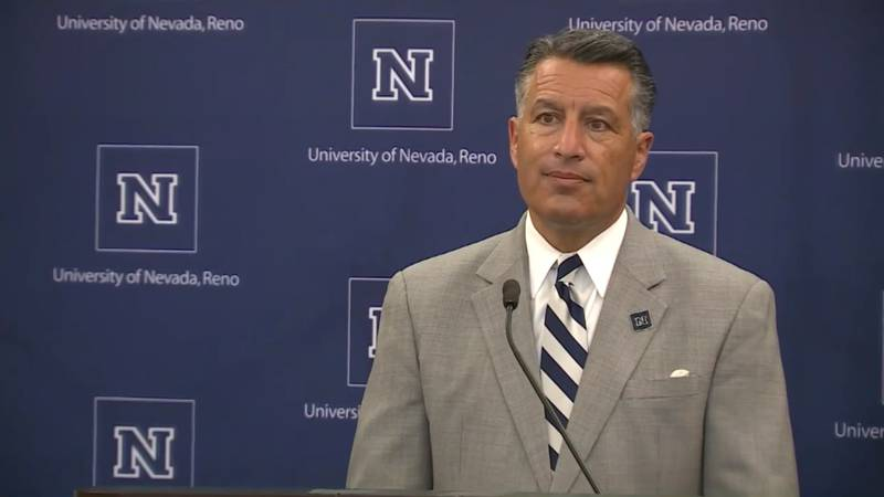 Brian Sandoval speaks to reporters during a press conference following the official appointment...