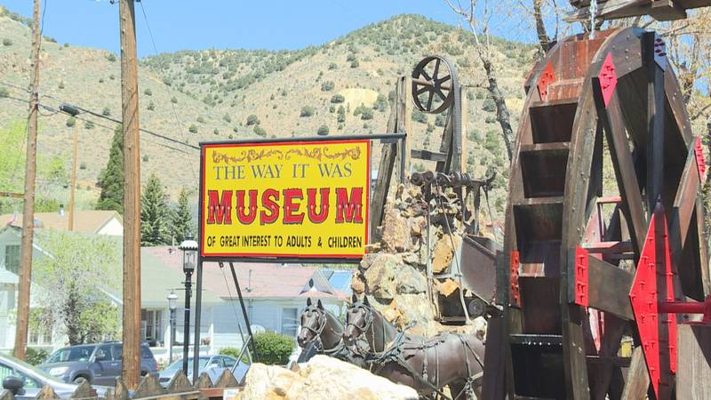 The Way it Was Museum features a waterwheel near it's entrance.
