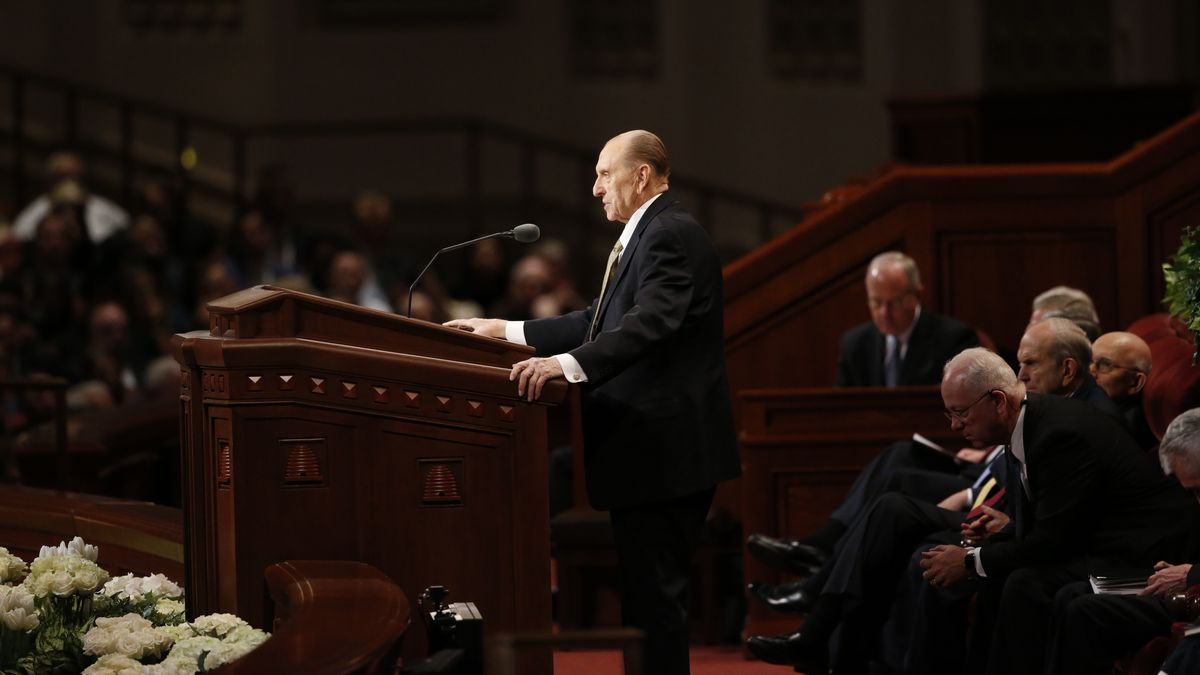 President Thomas S. Monson announces five new temples at the April 2017 general conference....