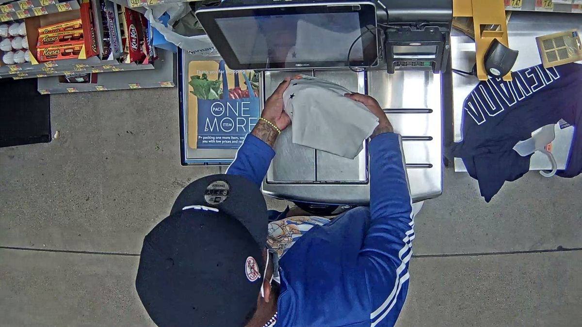 The suspects were caught on video surveillance using the stolen credit cards.