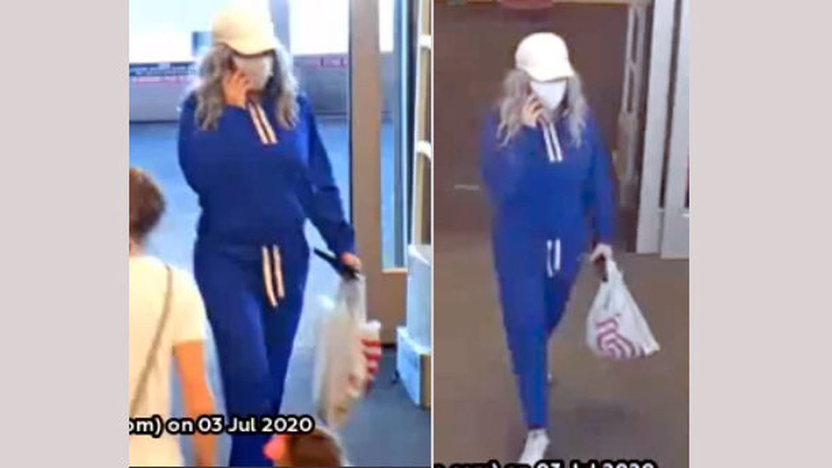 The Sparks Police Department released these images of a suspect who allegedly used a stolen credit at Target.