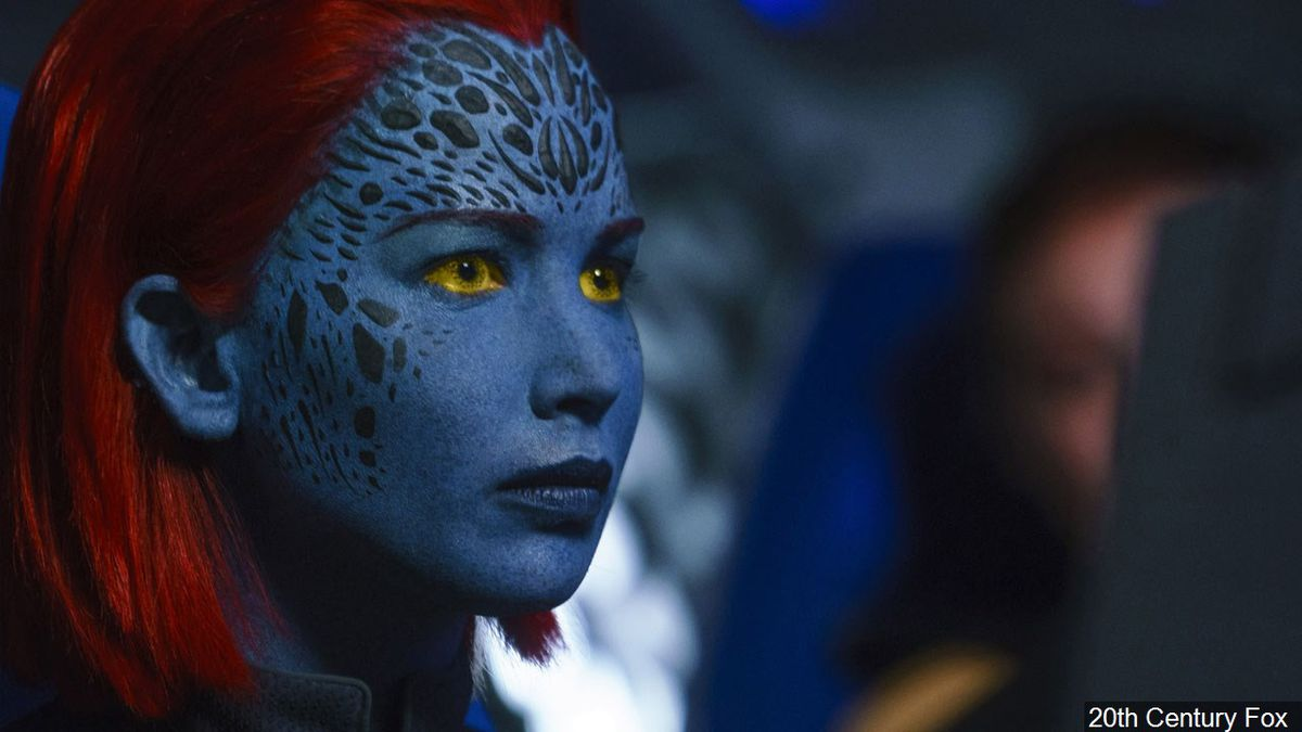 "Jennifer Lawrence in her role as Raven Darkholme (Mystique) from the movie ""Dark Phoenix"", Photo Date: 2019 Photo: 20th Century Fox"
