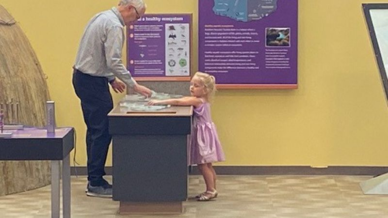 Interactive exhibit at The Discovery Museum