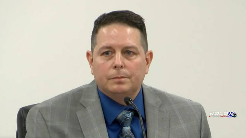Murder defendant Wayne Cameron testifying in his own defense.