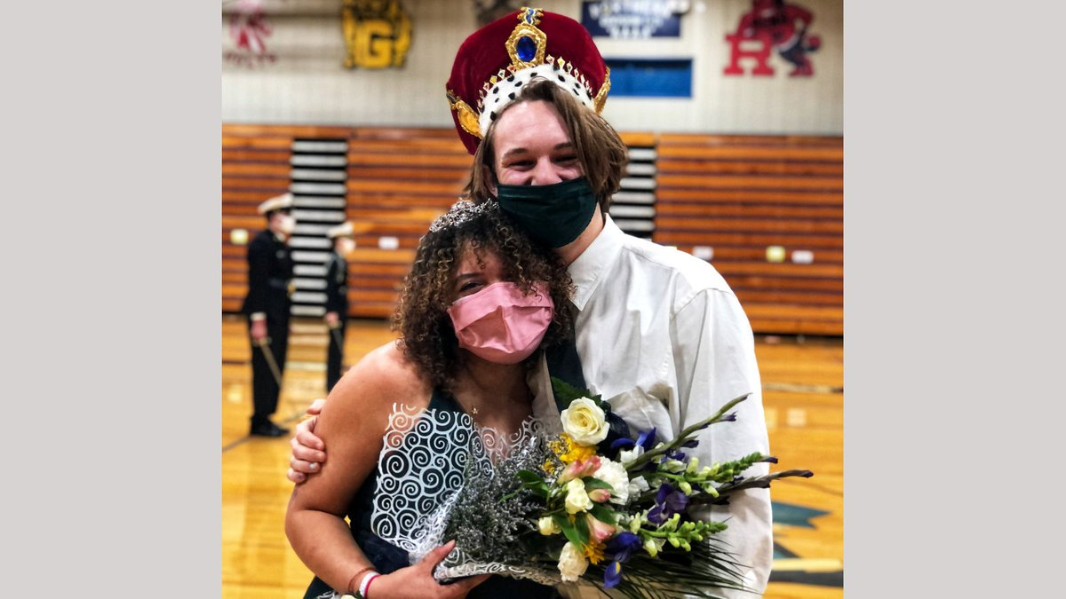 Will Breeding and Serena Dantzler , Carso High School Winterfest king and queen.