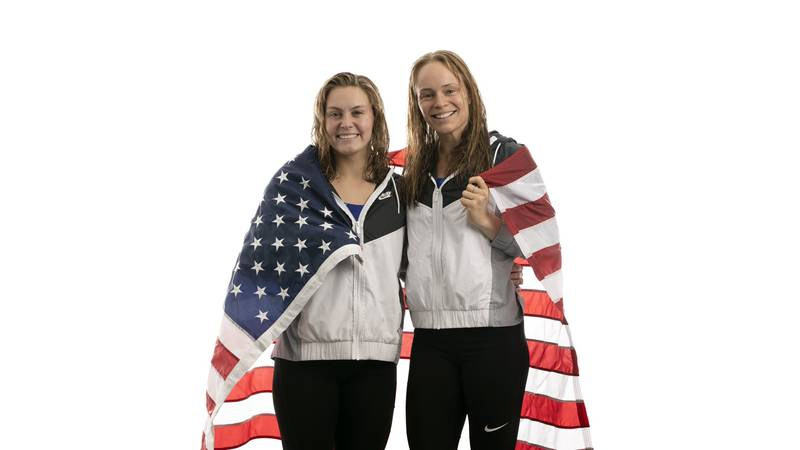 Alison Gibson and Douglas/Nevada graduate Krysta Palmer are headed to the Summer Olympics in...