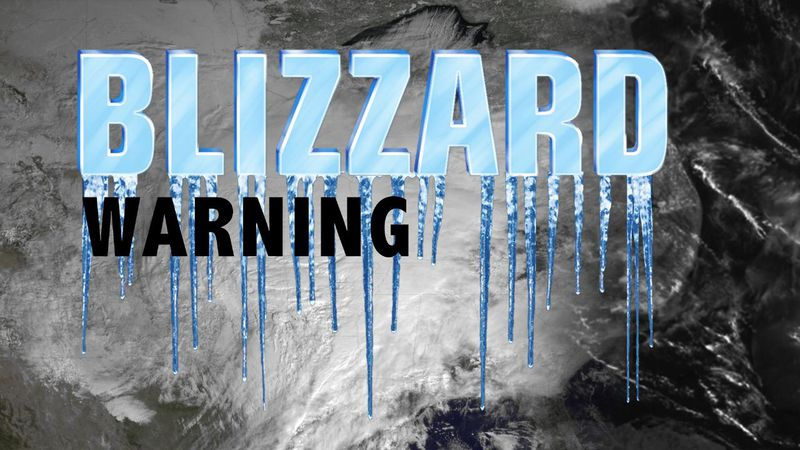 Blizzard warning issued for Greater Lake Tahoe area.