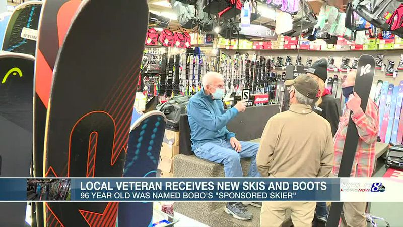 Local veteran gets new skis and boots.