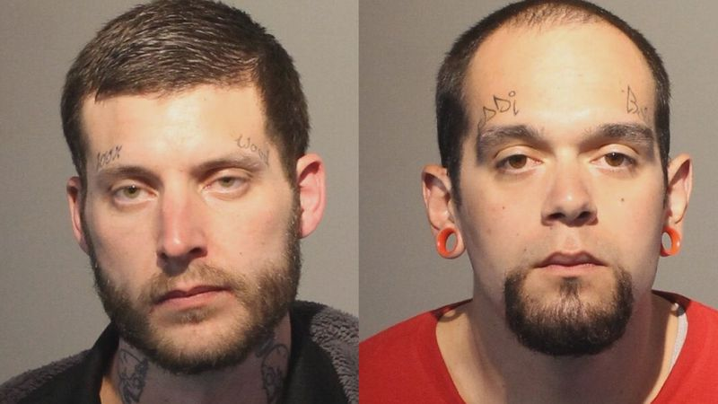 John Kramer (left) and Michael Jervik-Harrell who were both found to be in possession of the...
