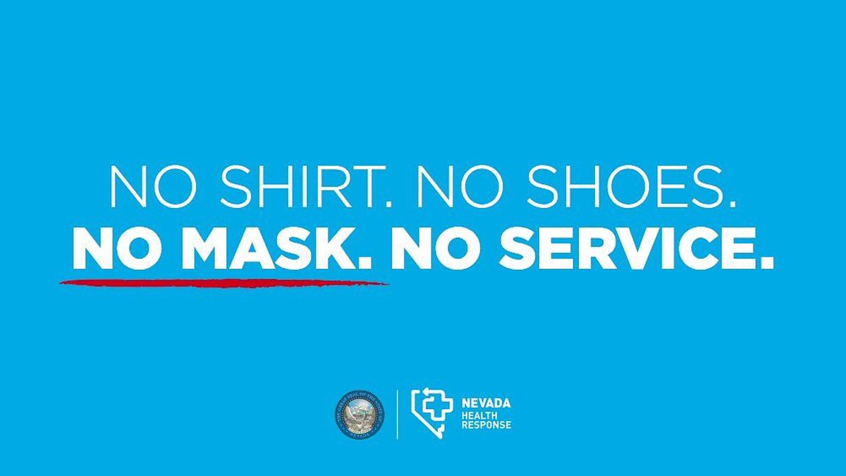 The state of Nevada released this image encouraging people to wear face coverings.