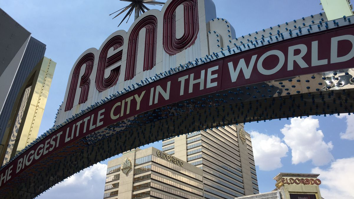 The Reno Arch in downtown. Photo by Wade Barnett/KOLO