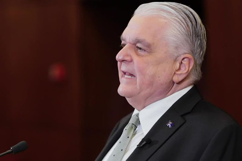 Gov. Sisolak discusses the State of the State in a pre-recorded address on January 19, 2021.