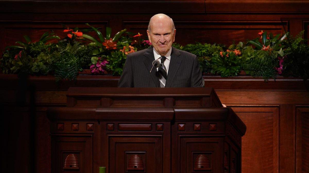 The Church of Jesus Christ of Latter-day Saints President Russell M. Nelson. Photo by Mason...