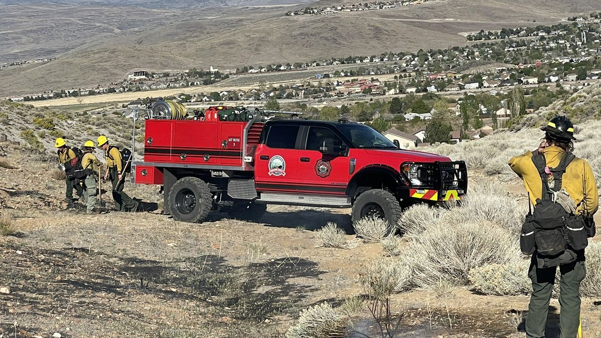 Crews put out a 1.7 acre brush fire in Spanish Springs on Monday.