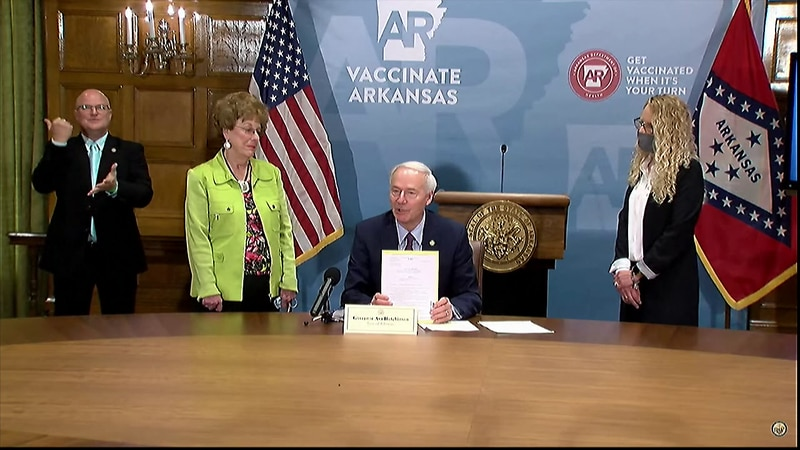 The Republican governor rejected legislation that would have prohibited doctors from providing...