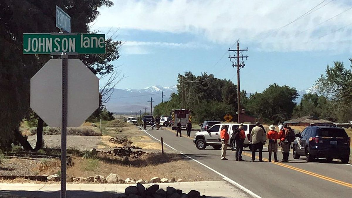 The Nevada Highway Patrol provided this picture of the scene of a fatal hit-and-run accident on Johnson Lane at Fremont Street in Douglas County.