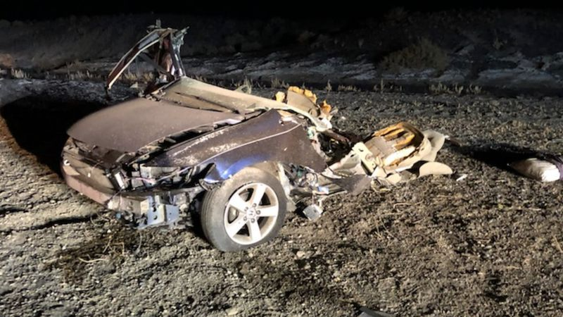 Two people were killed in a rollover on US 6 near Tonopah on December 1, 2020.