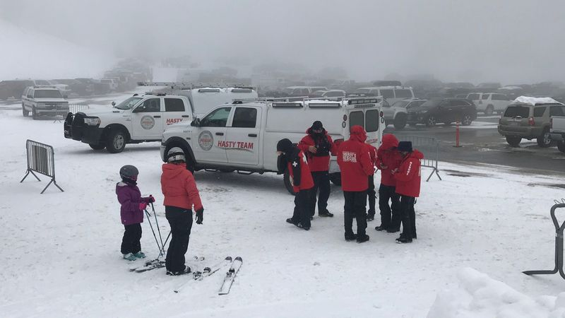 The Washoe Co. HASTY Team responds to a stranded snowboarder at Mt. Rose.