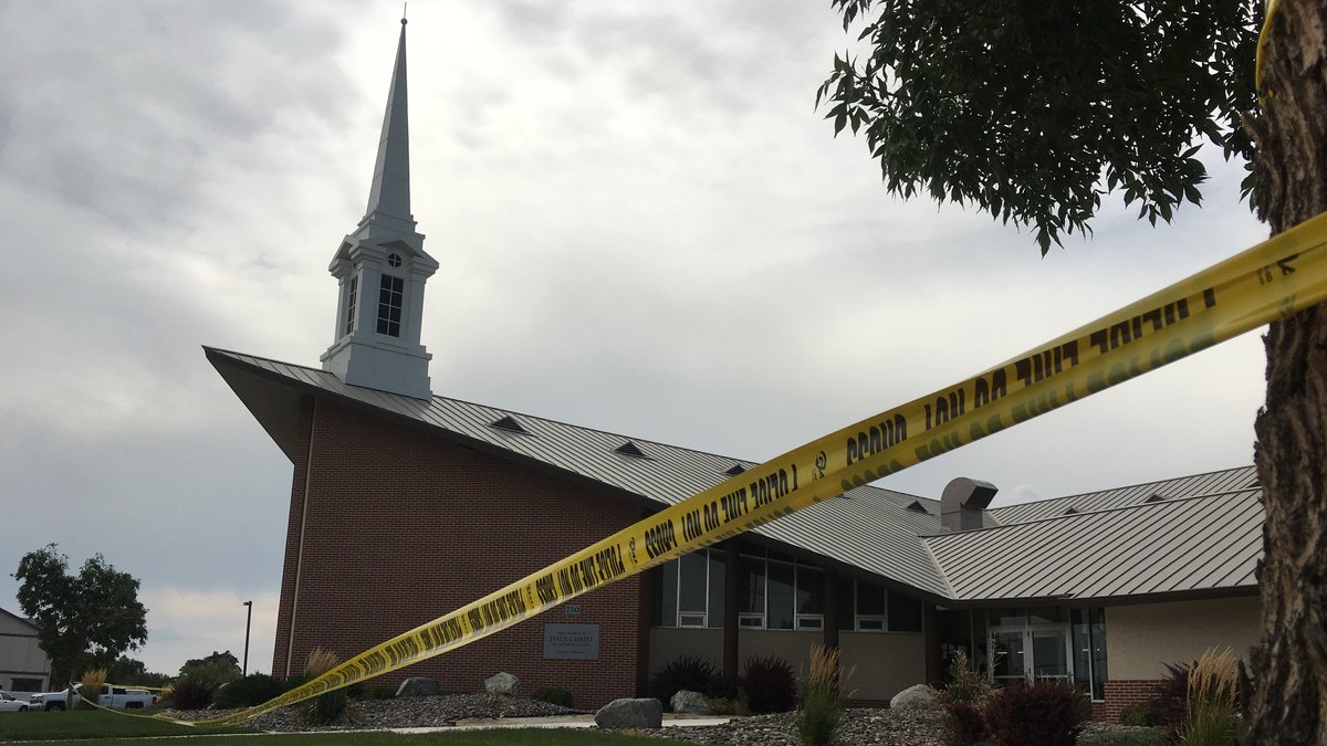 The scene of a shooting at a Mormon church in Fallon. Photo by Gurajpal Sangha/KOLO.
