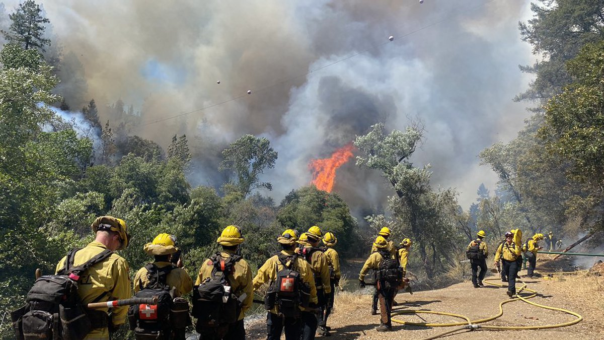 The River Fire. Photo by the California Department of Forestry and Fire Prevention.