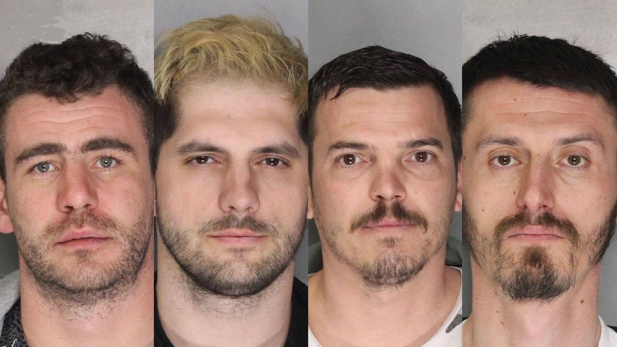 The Sacramento County Sheriff's Office released the booking photos of, left to right, Laurentiu Andreica,Vlad Chitas, Sandor Csaba and Lucien Lazar.