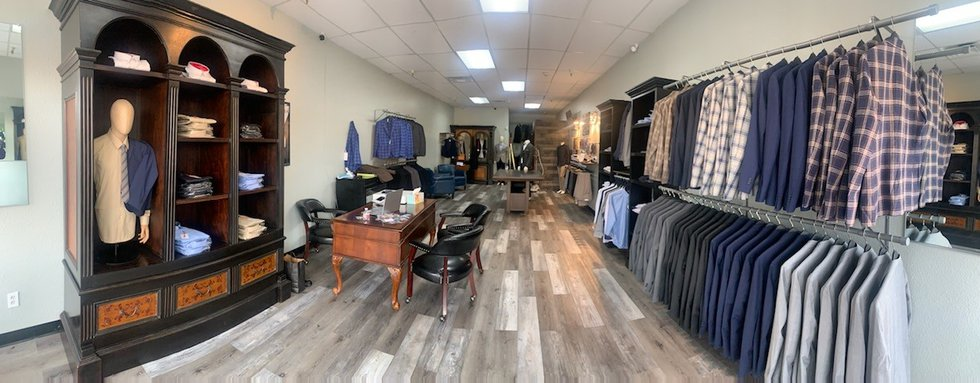 In Italia Men's Wear is inside the Crossing at Meadowood Square shopping center.