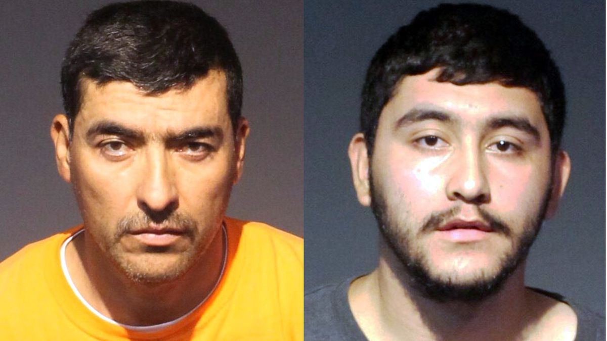 Jaime Oseguera, 44,left,  and Mark Oseguera-Chavez, 20.