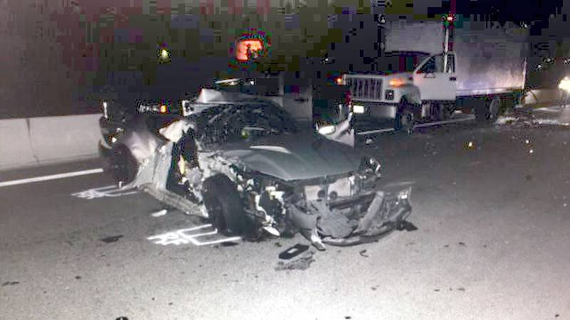Fatal accident on a Nevada highway