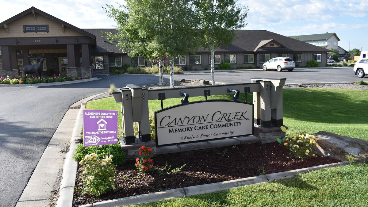 The Canyon Creek Memory Care Community is seen in Billings, Mont. on Friday, July 10, 2020. The facility that cares for people with dementia and other cognitive issues has seen at least seven deaths since a coronavirus outbreak sickened almost all its residents and many staff members. The Montana memory care facility that didn't carry out no-cost COVID-19 testing on its residents is reeling from an outbreak that has sickened more than 50 residents and 36 staff.
