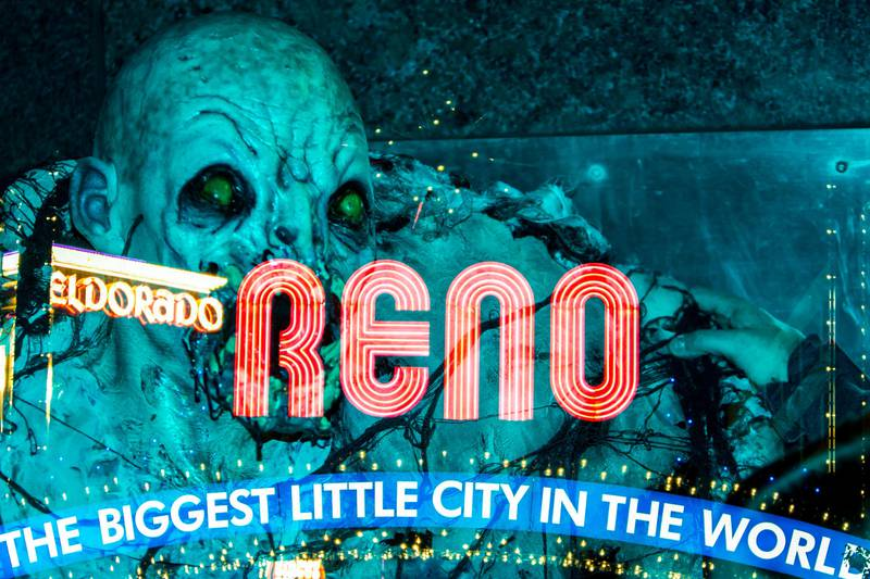 Robert Rollins said he created this 2018 Reno Zombie Crawl photograph using double exposure.