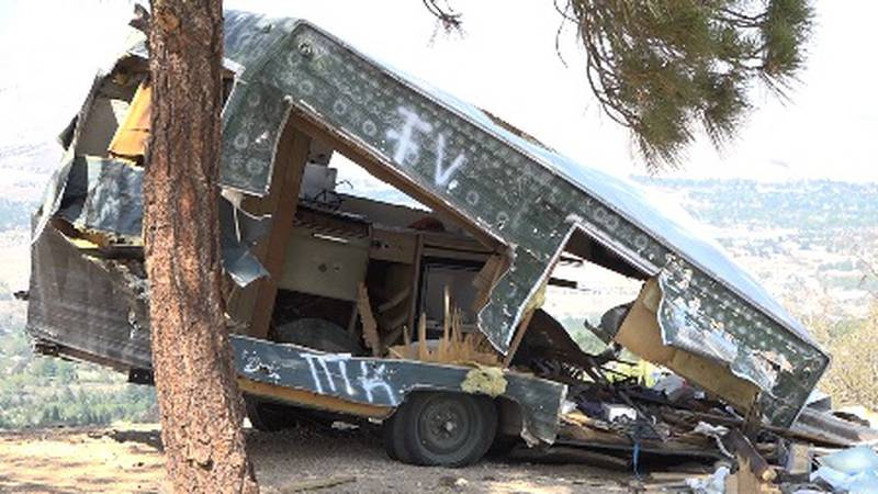 Reno resident Brad Hazelbaker says this is an eyesore every time he hikes behind his home in...
