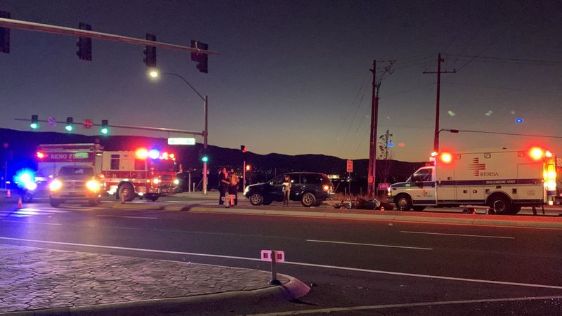 Vechile vs. motorcycle crash at Veterans Parkway and Pembroke Drive.