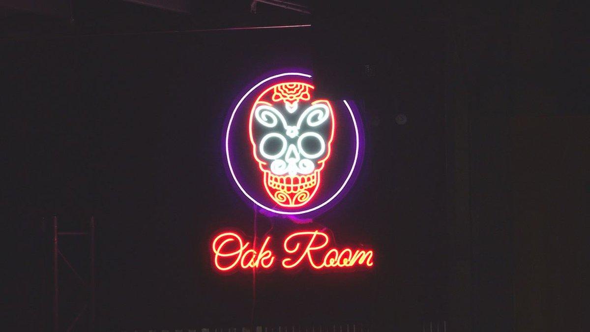 Oak Room Lounge sign