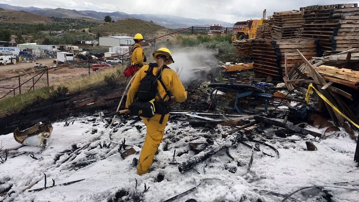 The Truckee Meadows Fire Protection District provided this photograph of the scene of a fire on Tanburg Circle.