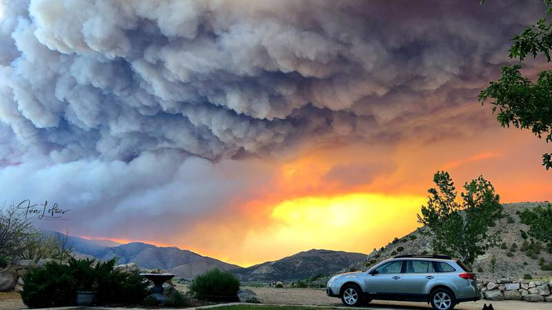 Terie Loftus submitted this photograph of the Beckwourth Complex fire taken from Rancho Haven.