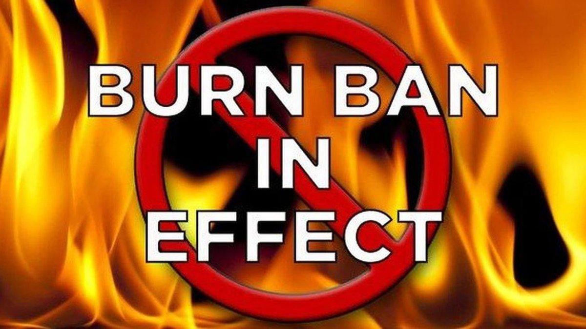 Burn ban graphic
