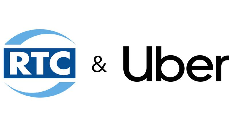 RTC and Uber logos