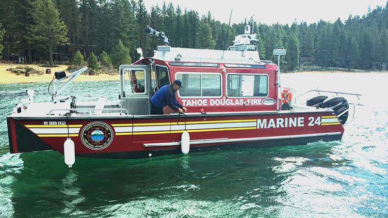 Marine 24 of the Douglas Tahoe Fire Protection District.