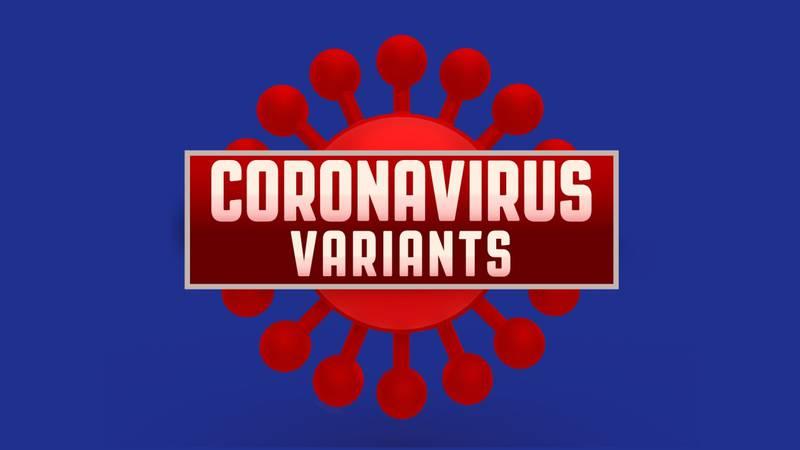 Coronavirus variants graphic.