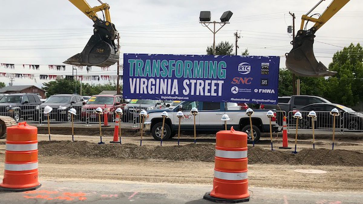 The Regional Transportation Commission (RTC) held a groundbreaking ceremony for phase two of the Midtown Virginia Street Project Friday morning.