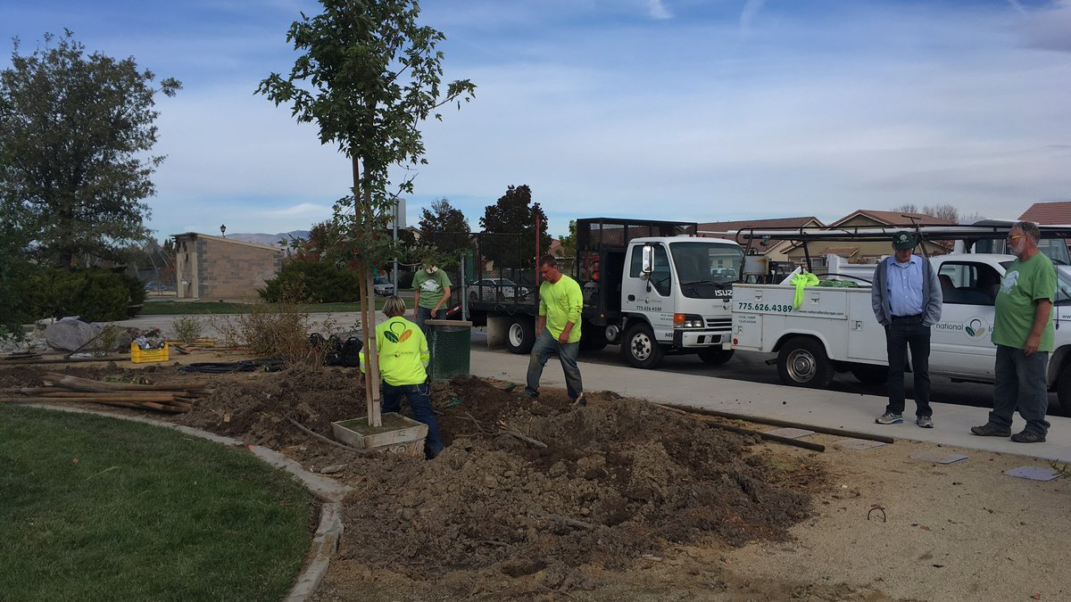 Tree planting at Comstock Park in south Reno as part of the ReLEAF Reno program. (KOLO)
